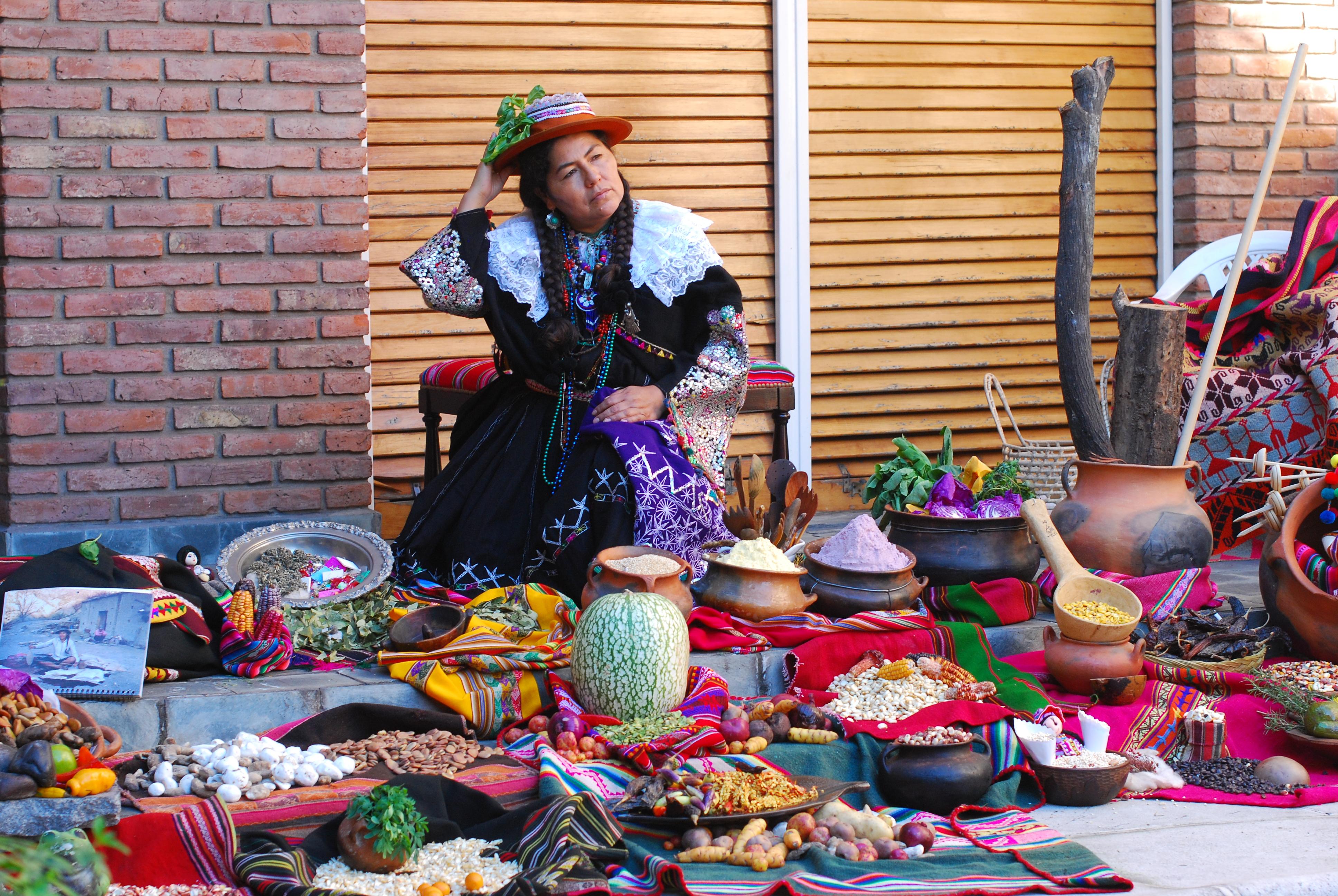 Cocina quechua con sahumada